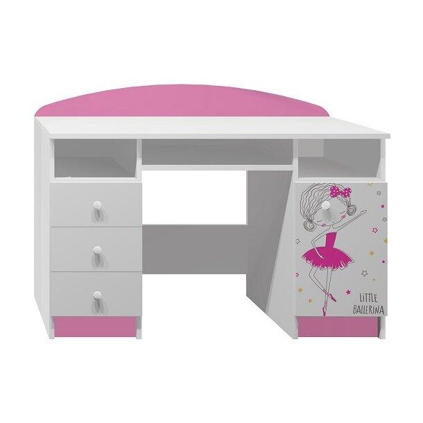 SKLADEM: Psací stůl MALÁ BALERÍNA - TYP B - bílá + růžová