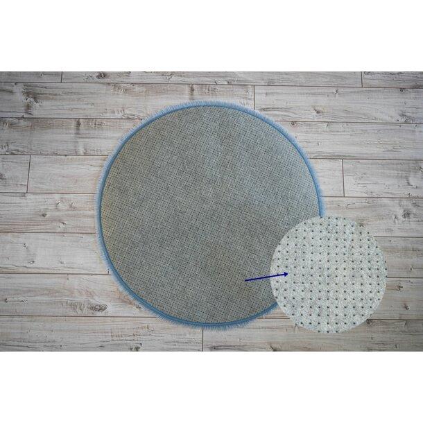 Plyšový kulatý koberec SOFT 90 cm - růžový