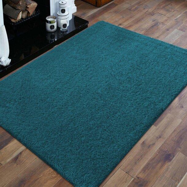 Moderní koberec SHAGGY CAMIL - modrý