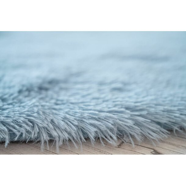 Dětský plyšový koberec SOFT STAR 60x60 cm - světle modrý