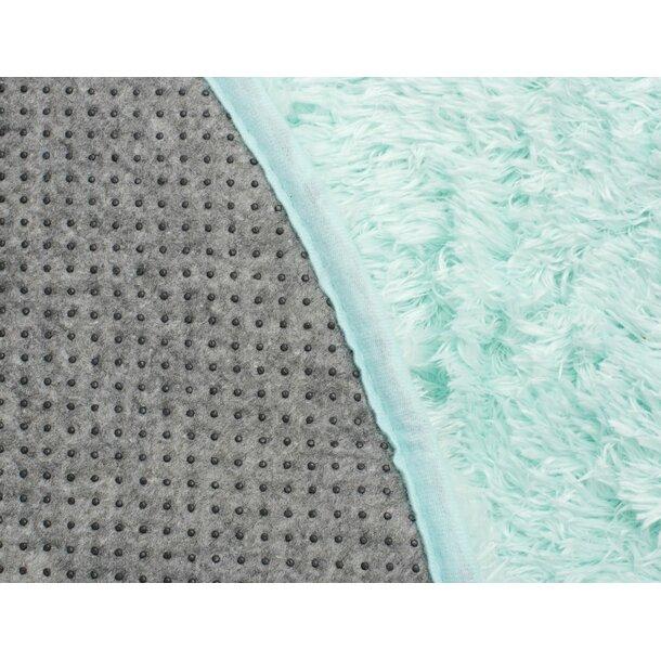 Plyšový kulatý koberec FIREN - mint