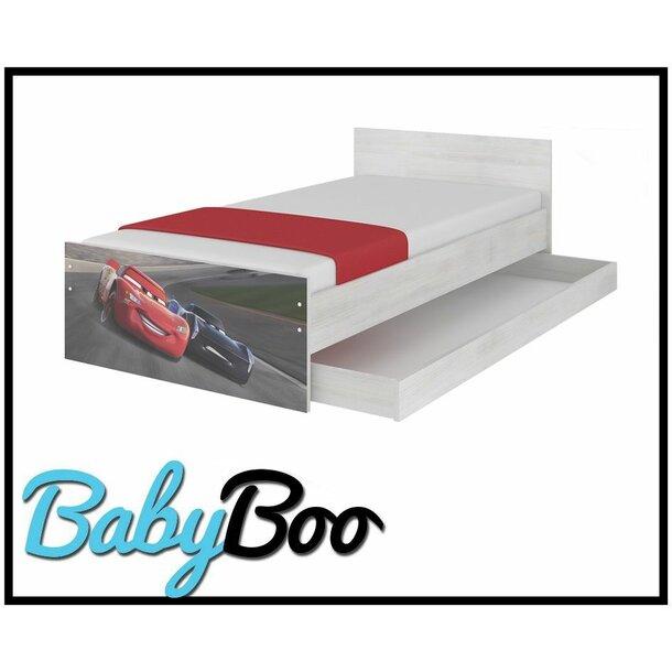 SKLADEM: Dětská postel MAX bez šuplíku Disney - AUTA 3 STORM 160x80 cm + 1 dlouhá a 1 krátká bariérka
