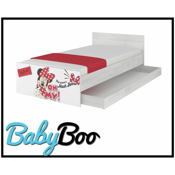 SKLADEM: Dětská postel MAX se šuplíkem Disney - MINNIE III 180x90 cm