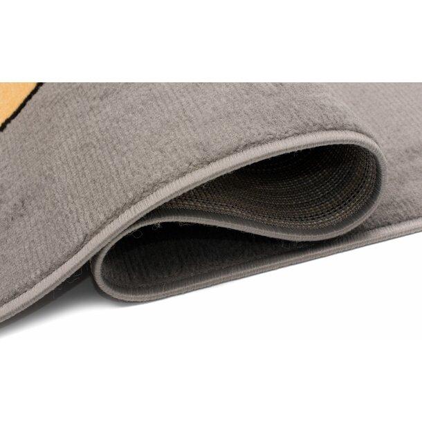 Dětský kusový koberec LUNA Lišky - šedý