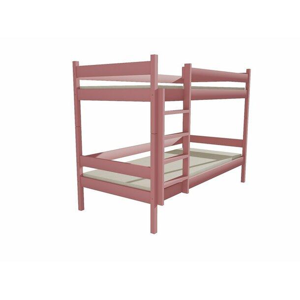 SKLADEM: Dětská patrová postel z MASIVU 180x80cm bez šuplíku - PP002 - šedá