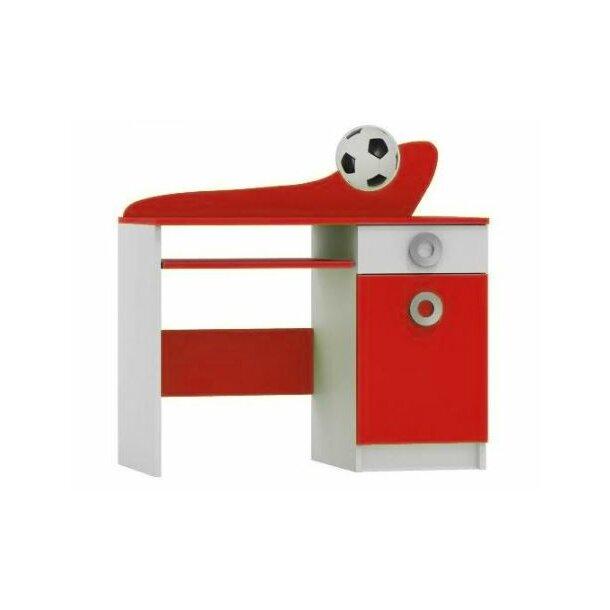 SKLADEM: Psací stůl FOTBAL - TYP A - červený/bílý