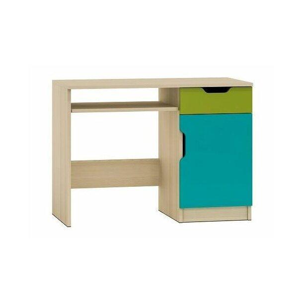 SKLADEM: Psací stůl COLOR - TYP A - pravé provedení - jasan coimbra/mix barev