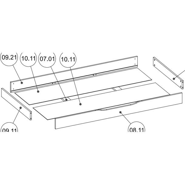 Lamino šuplík 158x75x14 cm pod dětskou postel 160x80 cm