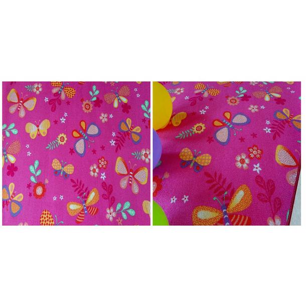 Dětský koberec MOTÝLÍ LOUKA - růžový
