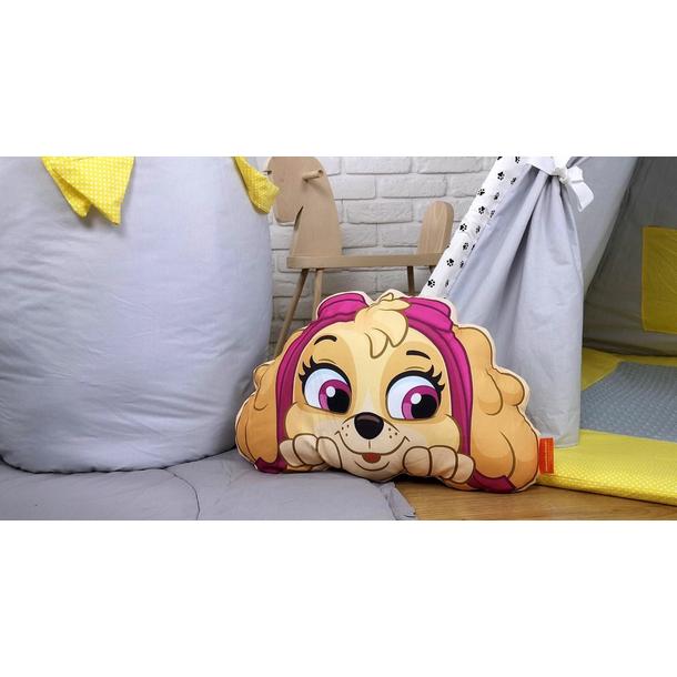 Dětský koš na hračky LUXURY - TLAPKOVÁ PATROLA - šedo/žlutý