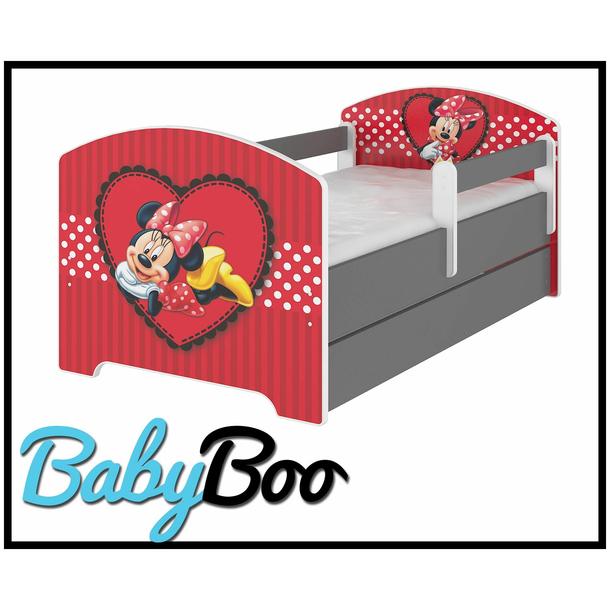 SKLADEM: Dětská postel Disney - zamilovaná MINNIE 140x70 cm + matrace kokos/molitan