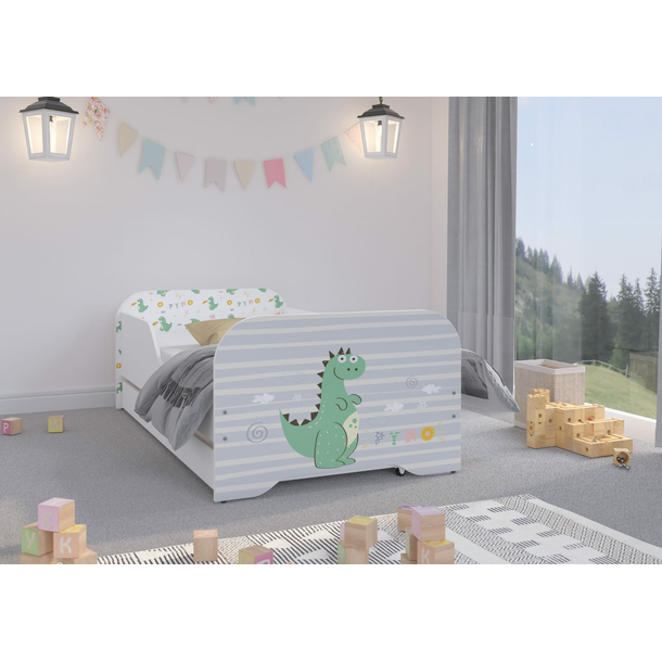 Dětská postel KIM - DINO 160x80 cm