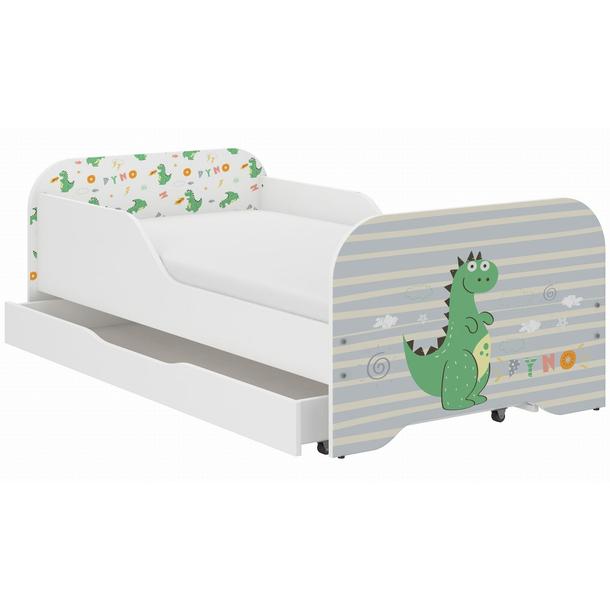 Dětská postel KIM - DINO 140x70 cm + MATRACE