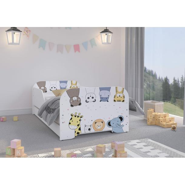 Dětská postel KIM - MINI ZOO 160x80 cm