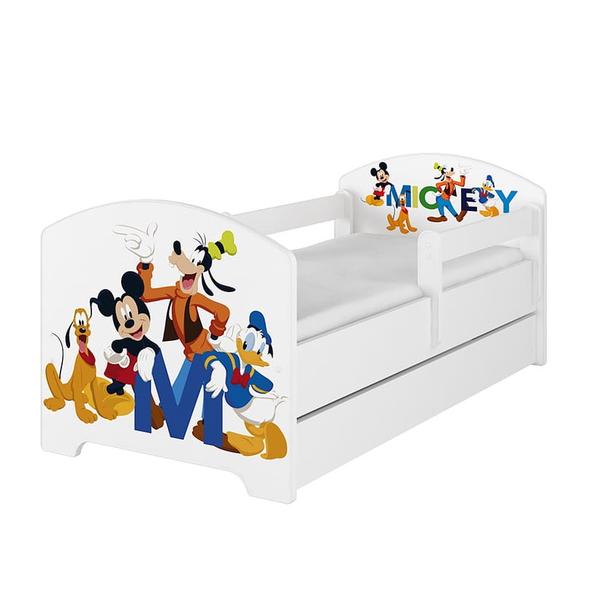 SKLADEM: Dětská postel Disney - MICKEY FRIENDS 140x70 cm - norská borovice + MATRACE