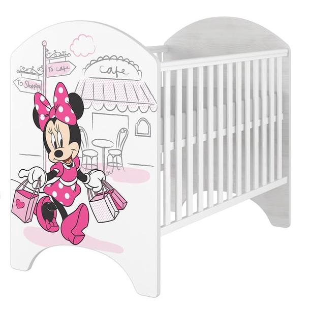 SKLADEM: Dětská postýlka Disney - MYŠKA MINNIE CAFE - bez šuplíku