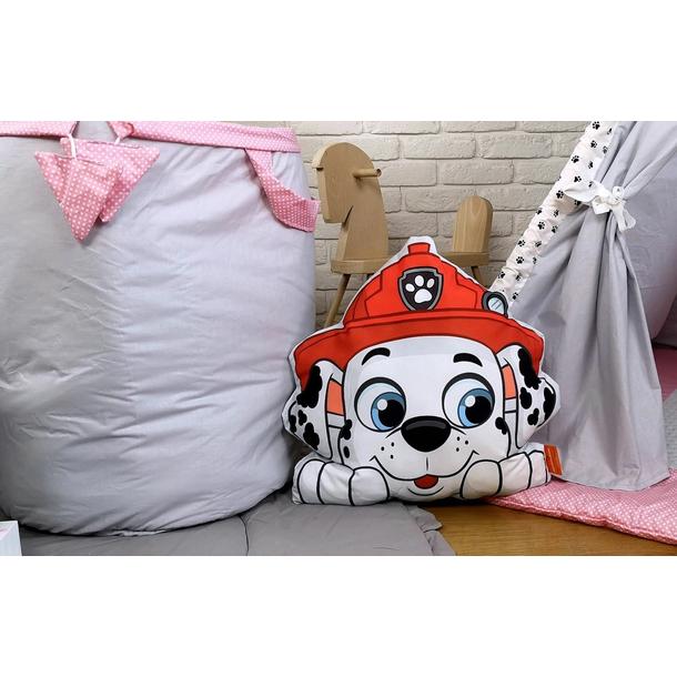 Dětský stan TEEPEE (TÝPÍ) LUXURY s doplňky - TLAPKOVÁ PATROLA - šedo/růžový