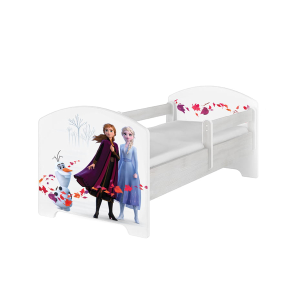 SKLADEM: Dětská postel Disney - FROZEN 2 140x70 cm - Elsa, Anna a Olaf + MATRACE