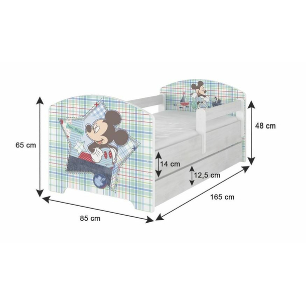 SKLADEM: Dětská postel Disney bez šuplíku - zamilovaná MINNIE 160x80 cm