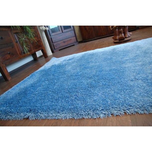 Kusový koberec SHAGGY MACHO modrý