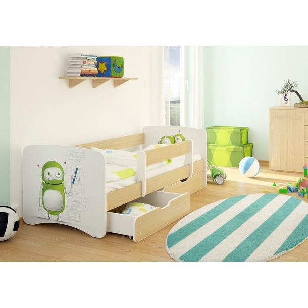Dětská postel ROBOT funny 160x80cm
