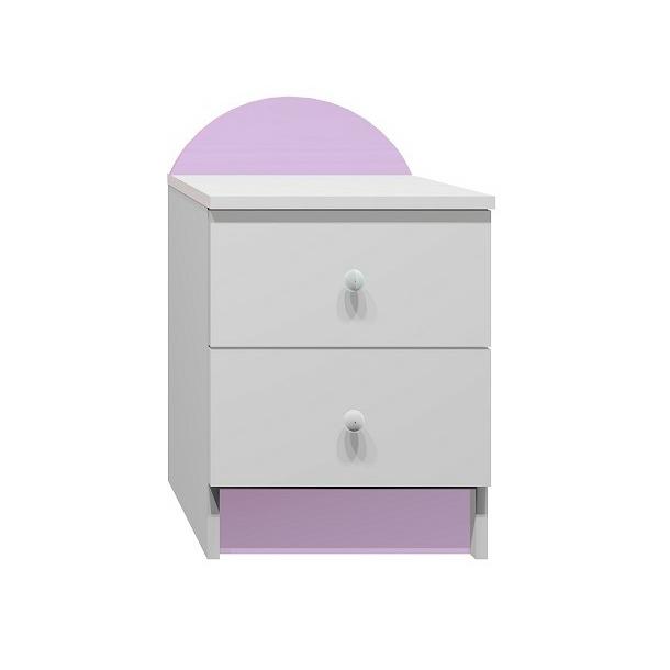 SKLADEM: Noční stolek RŮŽOVÁ PRINCEZNA - bílý