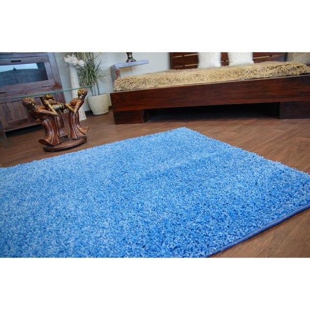 Kusový koberec SHAGGY – modrý