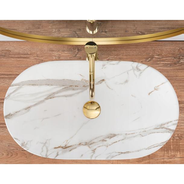 Keramické umyvadlo MAXMAX Rea ROYAL LAVA - imitace kamene