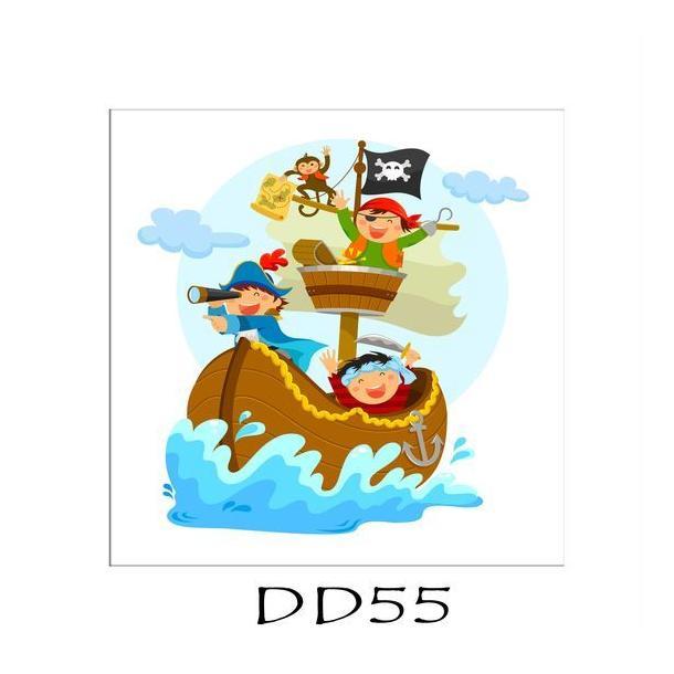 Dětský obrázek PIRÁTI - vzor DD55