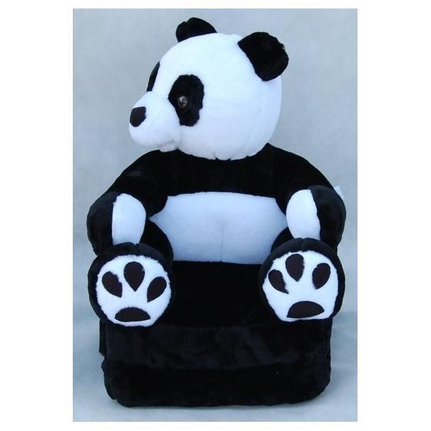 Dětské plyšové rozkládací křesílko PANDA