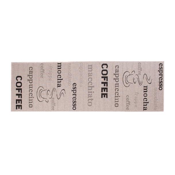 Sisalový PP běhoun COFFEE - světle hnědý/černý - 70x1200 cm