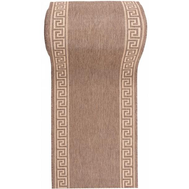 SKLADEM: Sisalový PP běhoun GREEK - hnědý/béžový - 70x200 cm