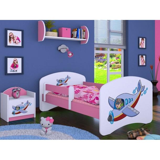 Dětská postel bez šuplíku 160x80cm LETADLO
