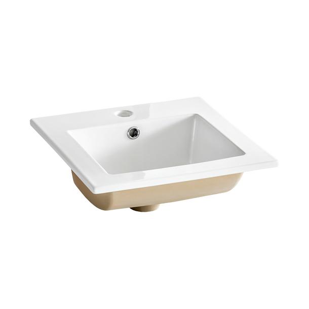 Keramické umyvadlo BÁRA 40 cm - bílé