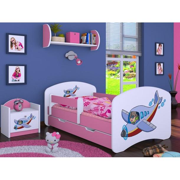 Dětská postel se šuplíkem 160x80cm LETADLO