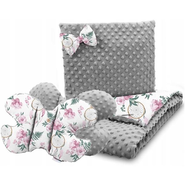 Dětská deka do kočárku s polštářkem a motýlkem - PREMIUM set 3v1 - Dreamcatcher