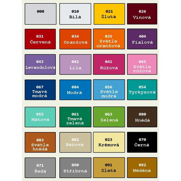 Samolepky na zeď ORNAMENTY color - vzor 6 - 010 bílá