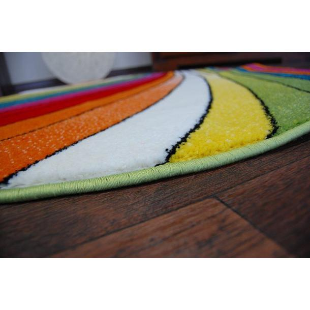 Kulatý designový koberec MALBA F1560 modrý