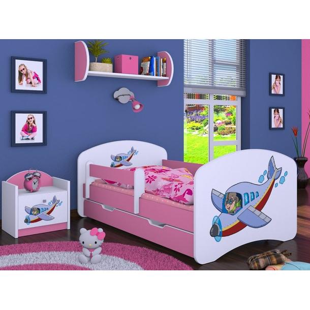 Dětská postel se šuplíkem 180x90cm LETADLO