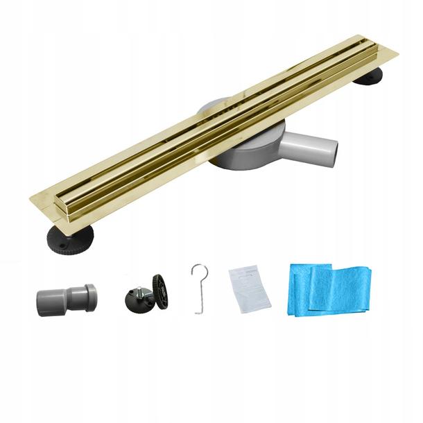 Sprchový žlab MEXEN FLAT 360 SLIM - zlatý