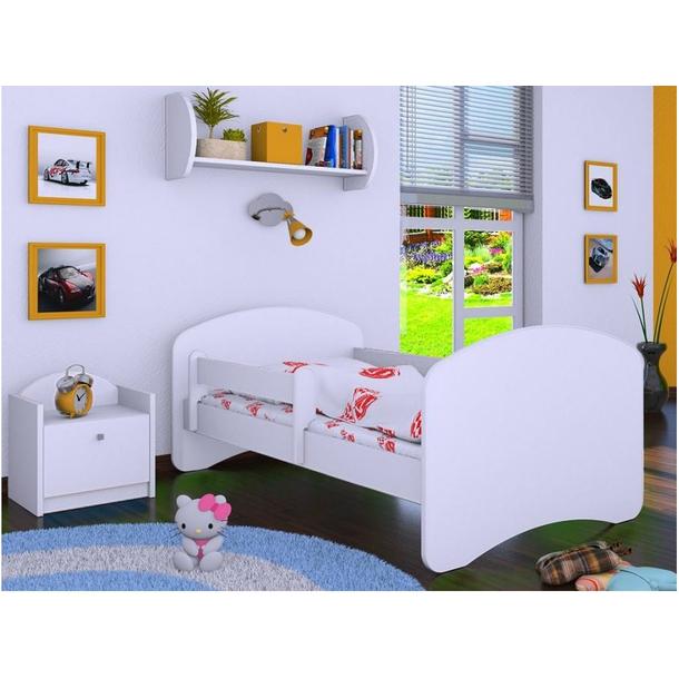 Dětská postel bez šuplíku 140x70cm BEZ MOTIVU - bílá