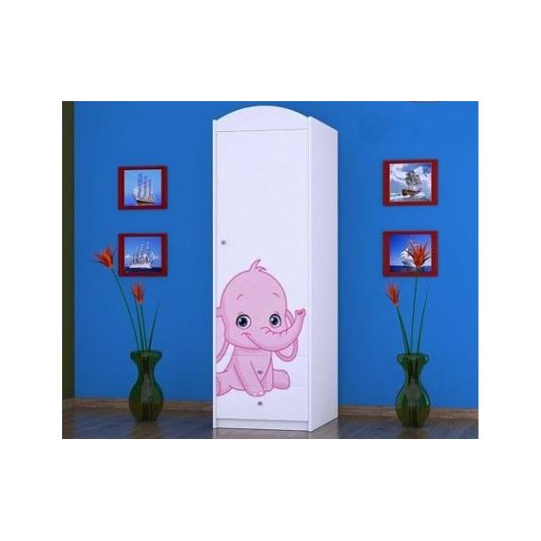 Dětská skříň SLONÍCI - TYP 4B
