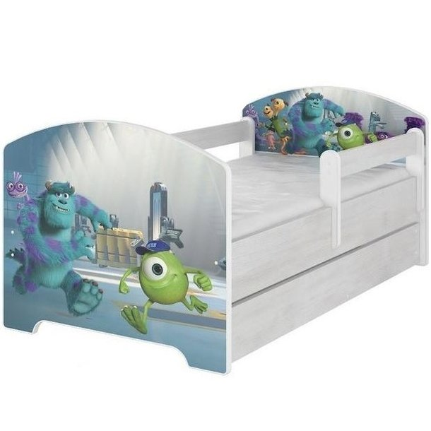 Dětská postel se šuplíkem Disney - PŘÍŠERKY s.r.o. 160x80 cm