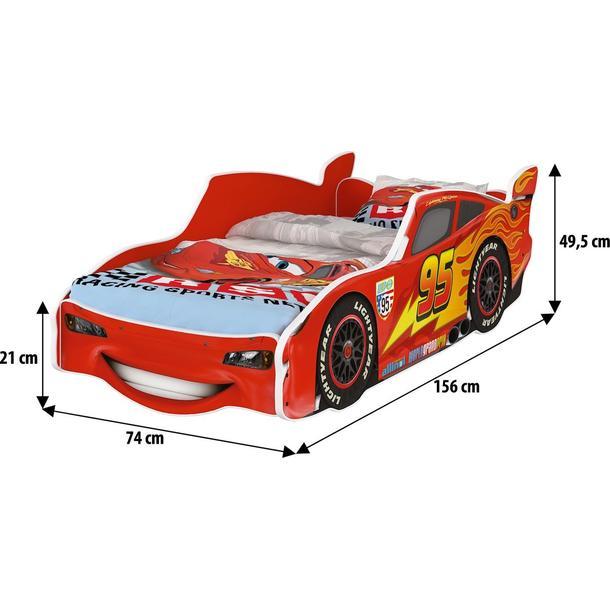 Dětská autopostel Disney 140x70 - BLESK MCQUEEN červená