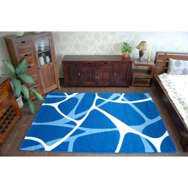Moderní koberec MODRÝ F241