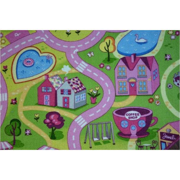 Dětský kulatý koberec SWEET CITY