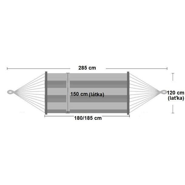 Houpací síť pro dva 220x150 cm - rozměry