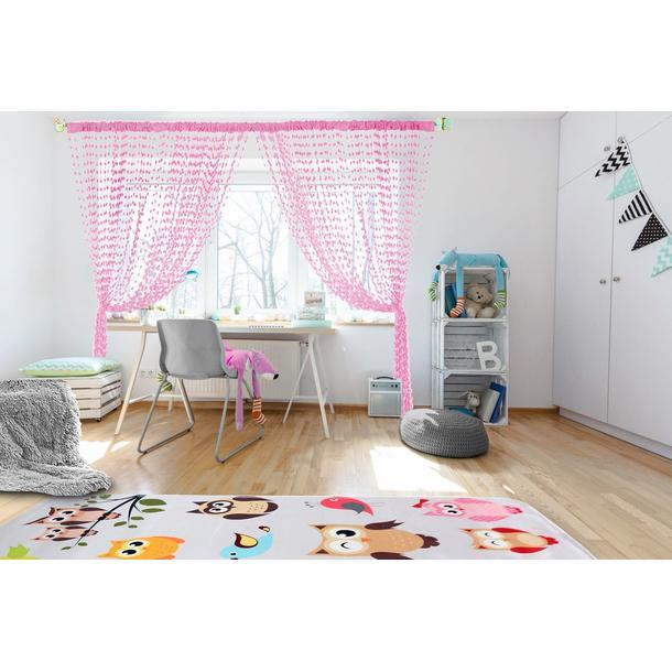 Dětská záclona - růžová
