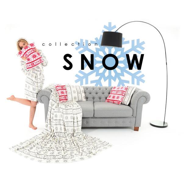 Deka / přehoz SNOW světle šedá