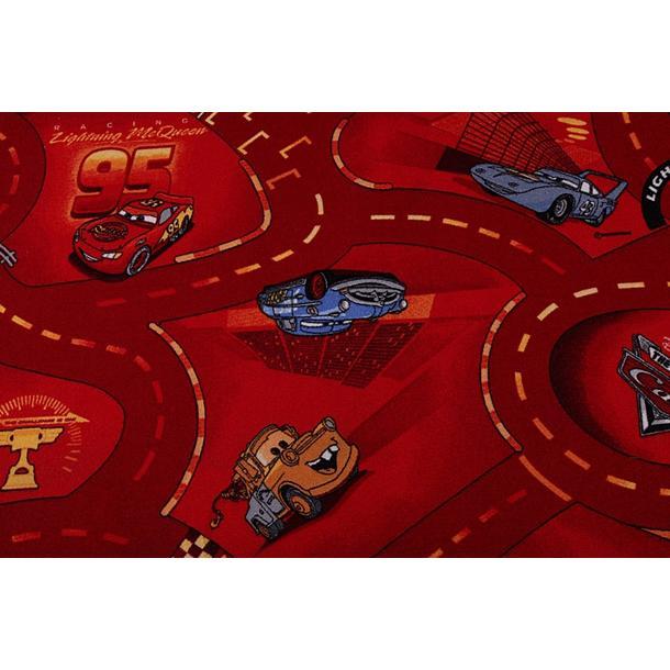 Dětský koberec Cars červený